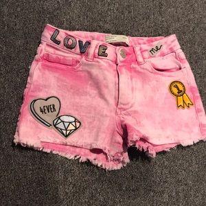 Zara girls pink shorts